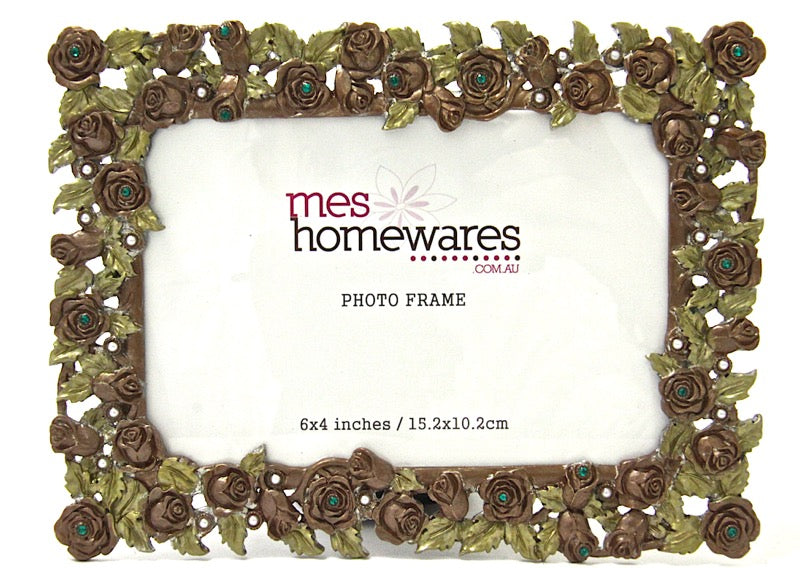 Photo Frame Roses & Pearl Bead