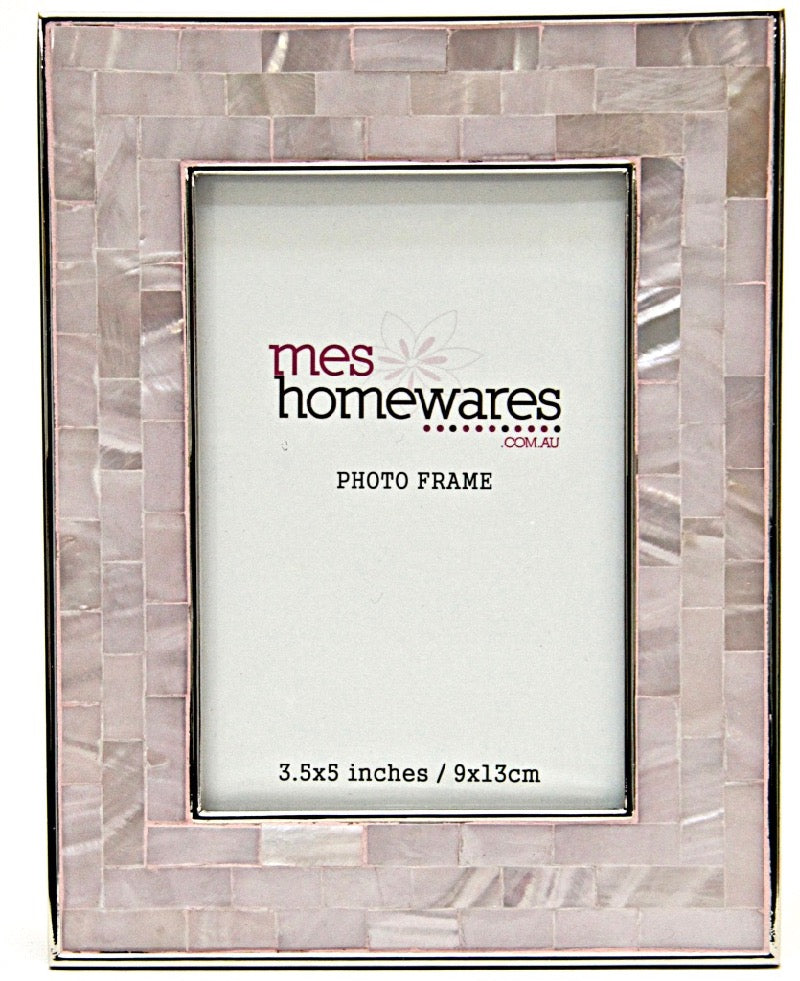 Photo Frame Silver Edge Mother of Pink 3.5×5