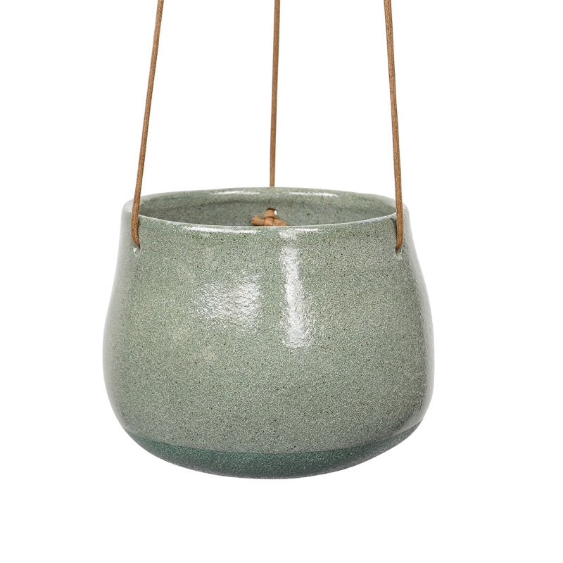 Green Hanging Ceramic Planter