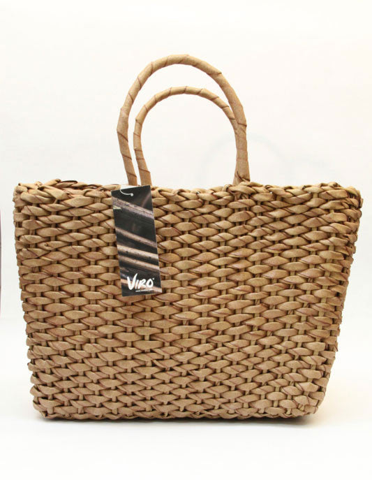 Basket – Water Hyacinth Viro  – Honey (Square Shaped)
