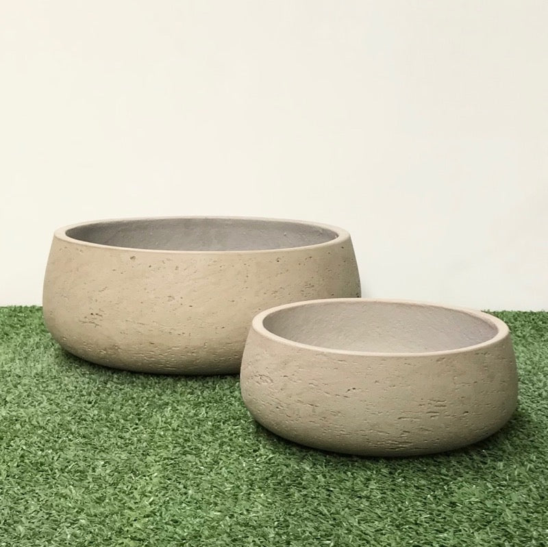 Shallow Bowl Grey Wash