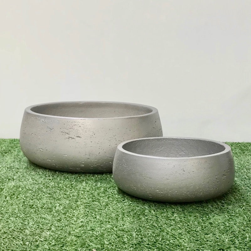 Shallow Bowl Metallic Silver