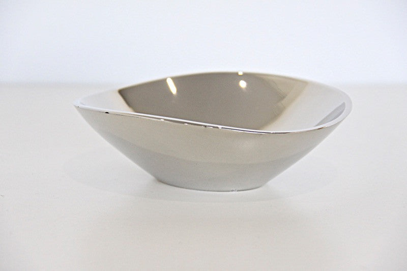 Tray Silver Candle