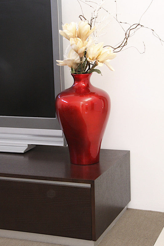Vase Lacquer – Small Size- Red Silver (42cm)