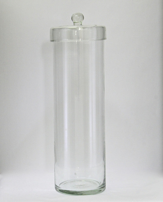 Glass Canister With Lid. Tall & Slim Large