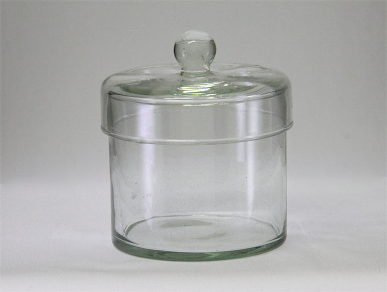 Glass Canister With Lid. Slim Small