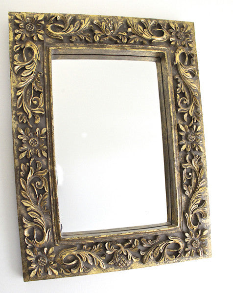 Gold Mirror Wood