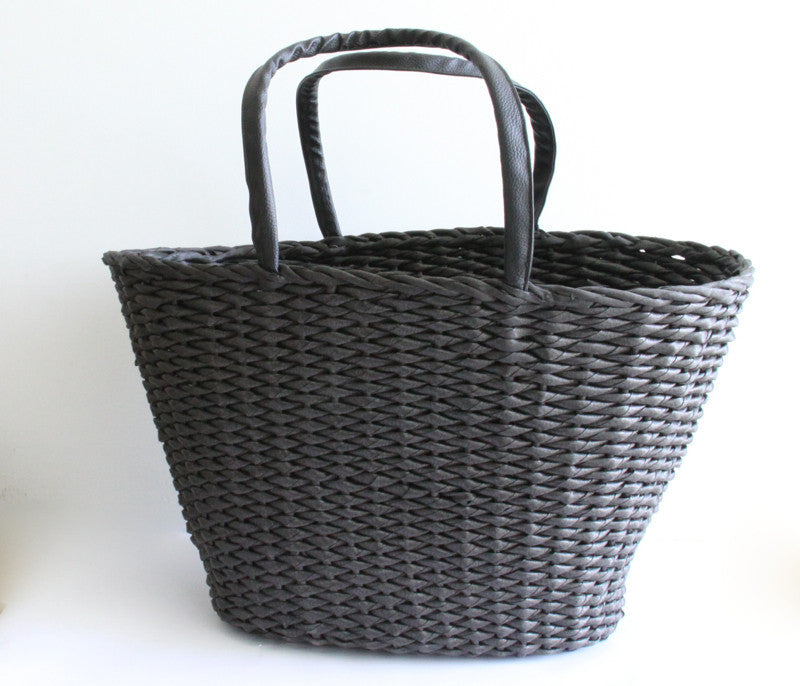 Best Beach Basket – Big Oval Black