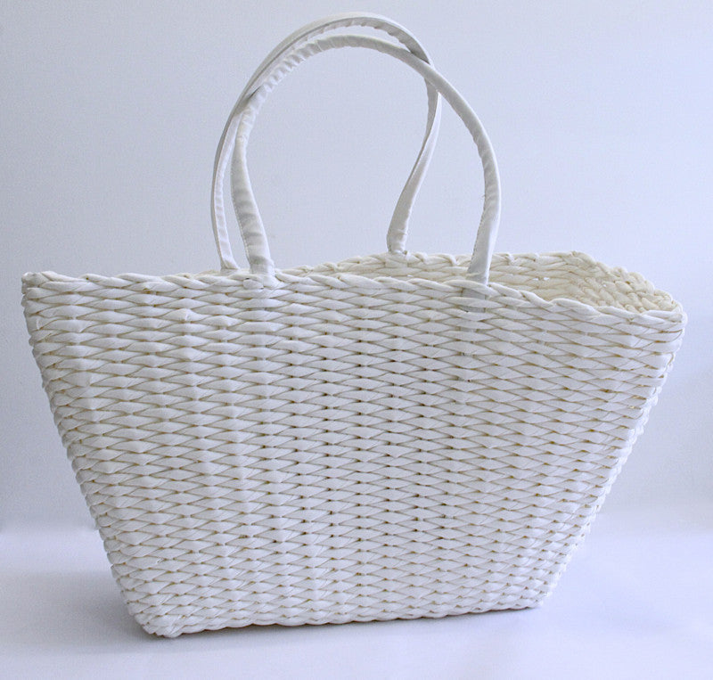 Best Beach Basket – Big Square White