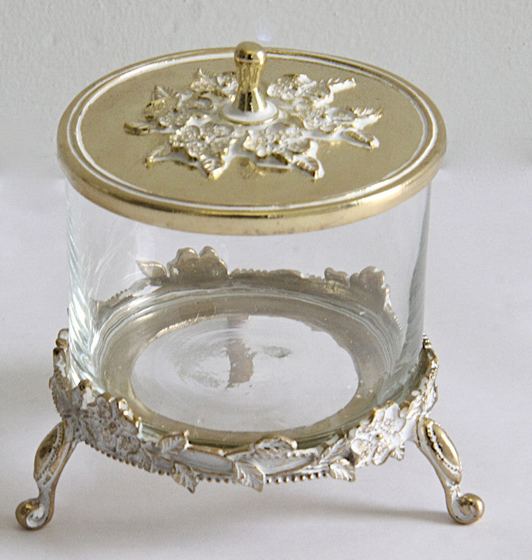 Decorative Box Gold and Glass