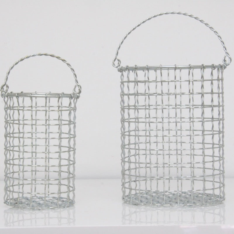 Baskets Round Set of 2 Iron Plated