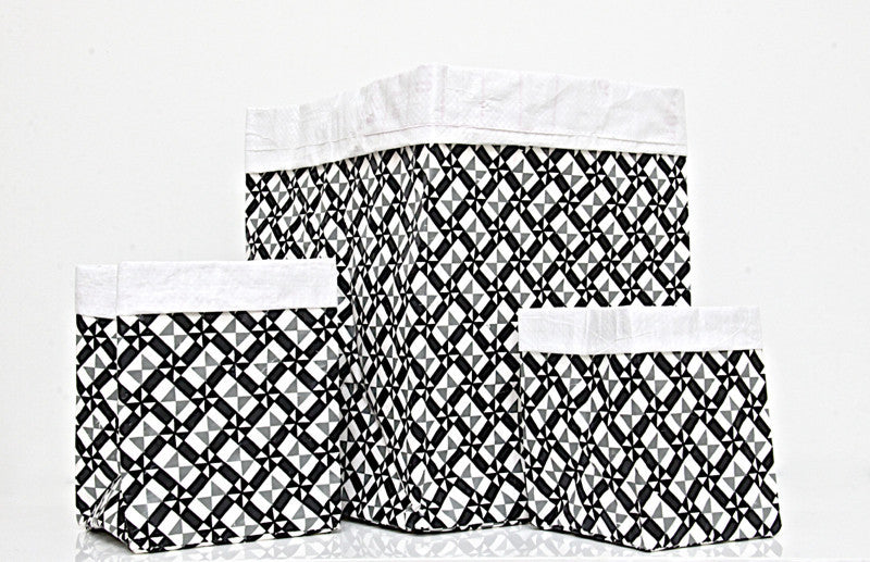 Plant Bag Black & White Paper Bag Large