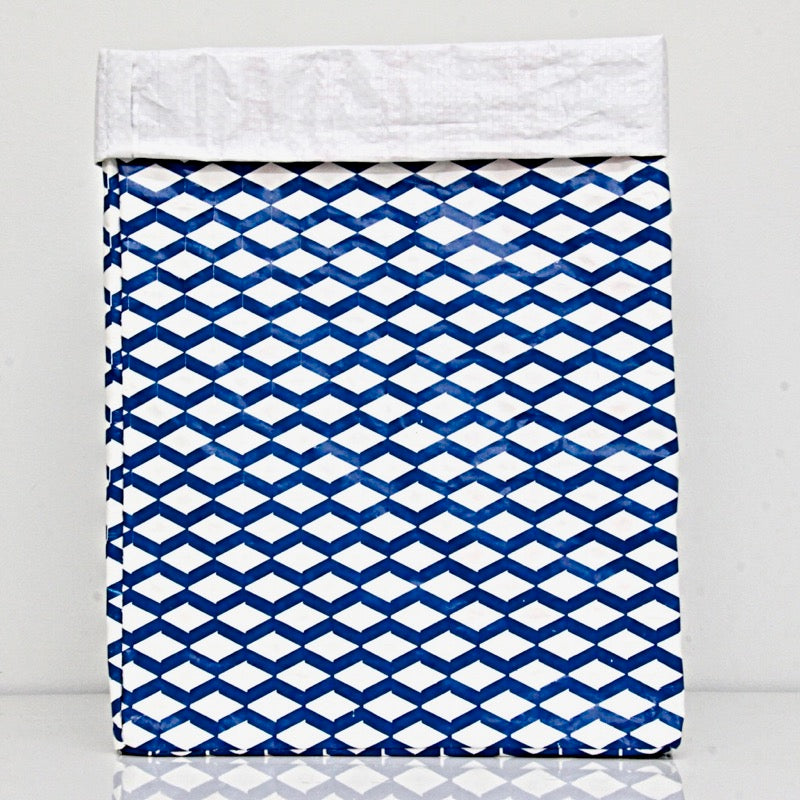 Plant Bag Blue & White Large