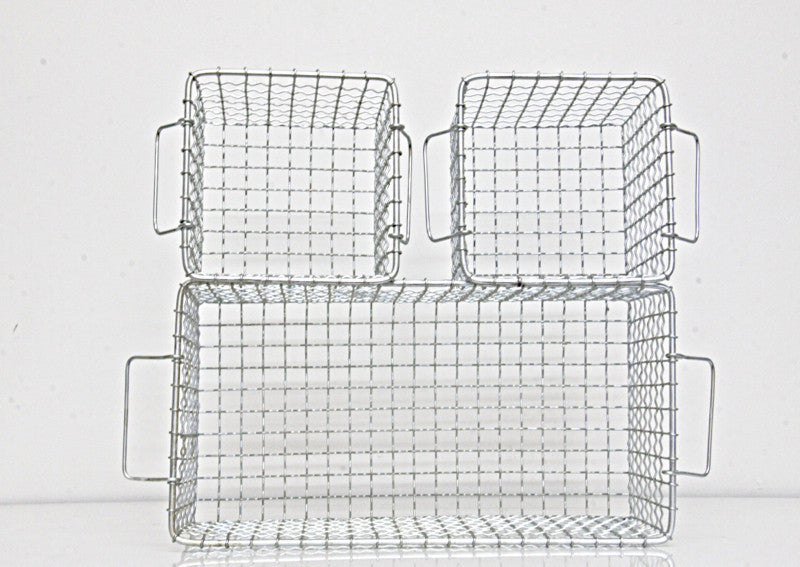 Baskets Rectangular Set of 3 Iron plated