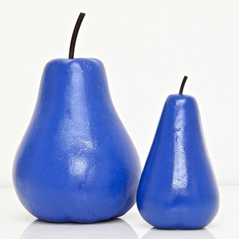 Pear Figurine Blue Set of 2