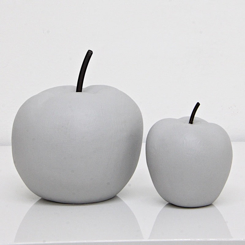 Apple Figurine Cement Set of 2