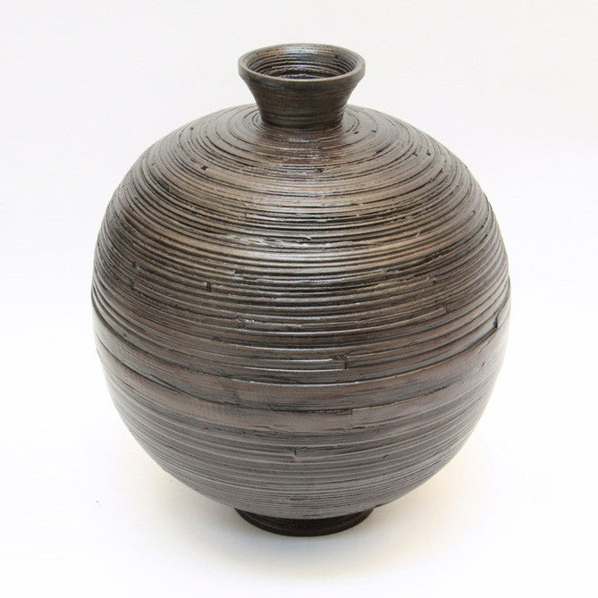 Vase Raw Matte Black Bamboo – Original (36cm)