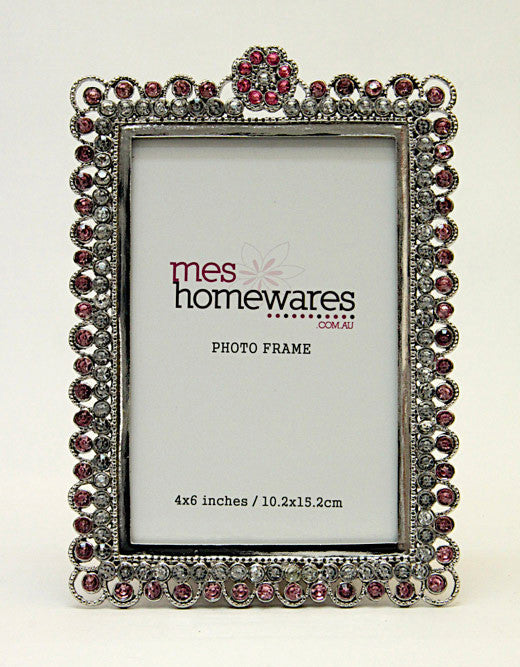 Photo Frame Pressed Flowers Pink 4×6
