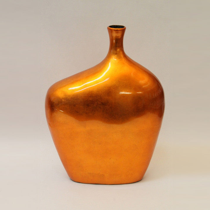 Vase Lacquer – Large – Orange Silver (42cm)