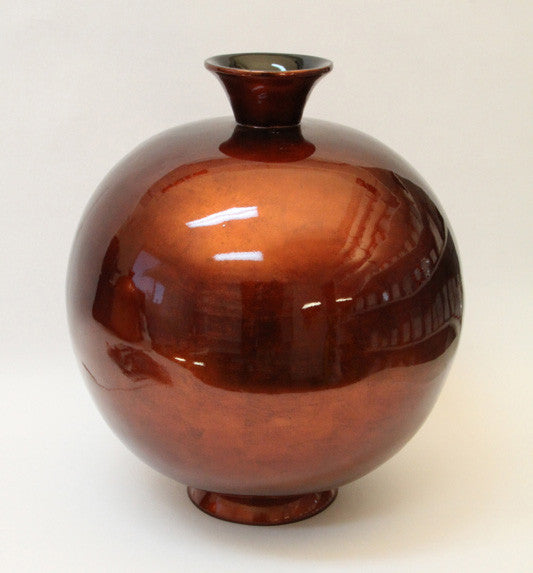 Vase Lacquer – Medium – Brown Silver (46cm)