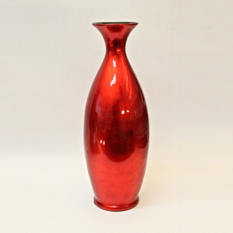 Vase Lacquer – Red Silver (58cm)