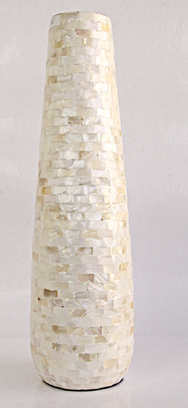 Vase Ivory MOP Tapered.
