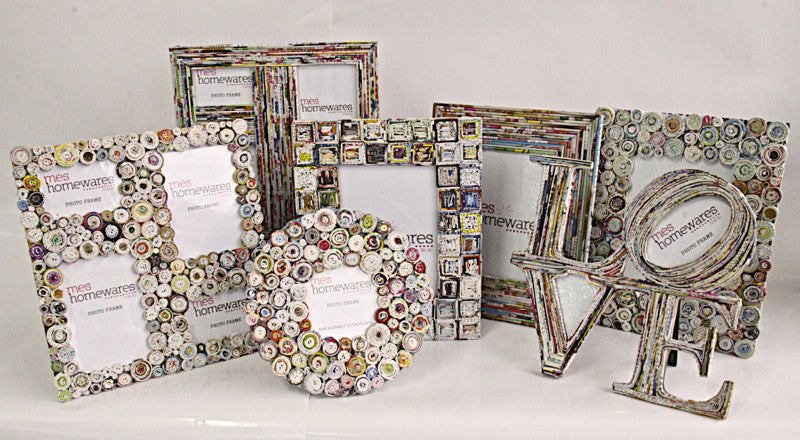 Photo Frame Round small pieces paper photo frame D20