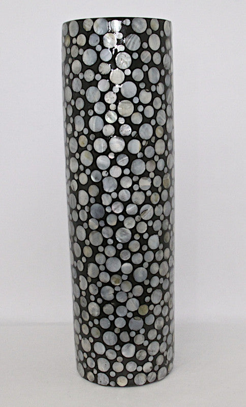 Vase Black Mother of Pearl
