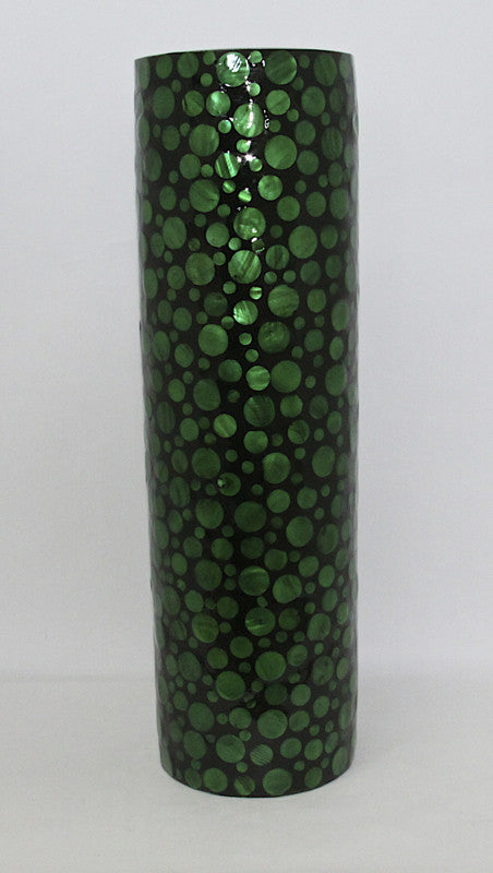 Vase Green Mother of Pearl