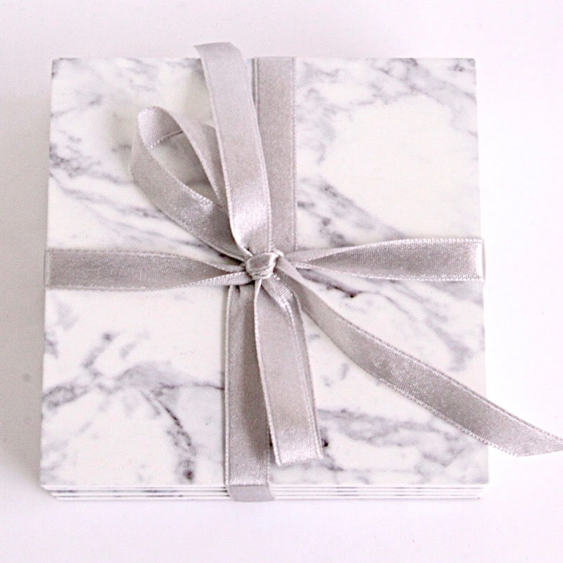 Coaster Marble Print set of 4