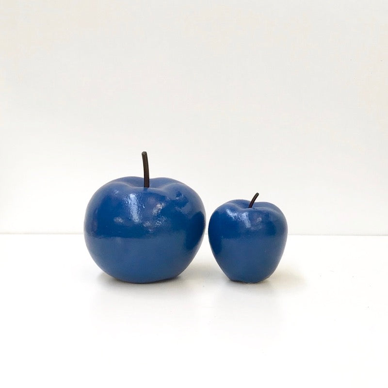 Apple Figurine Blue Set of 2