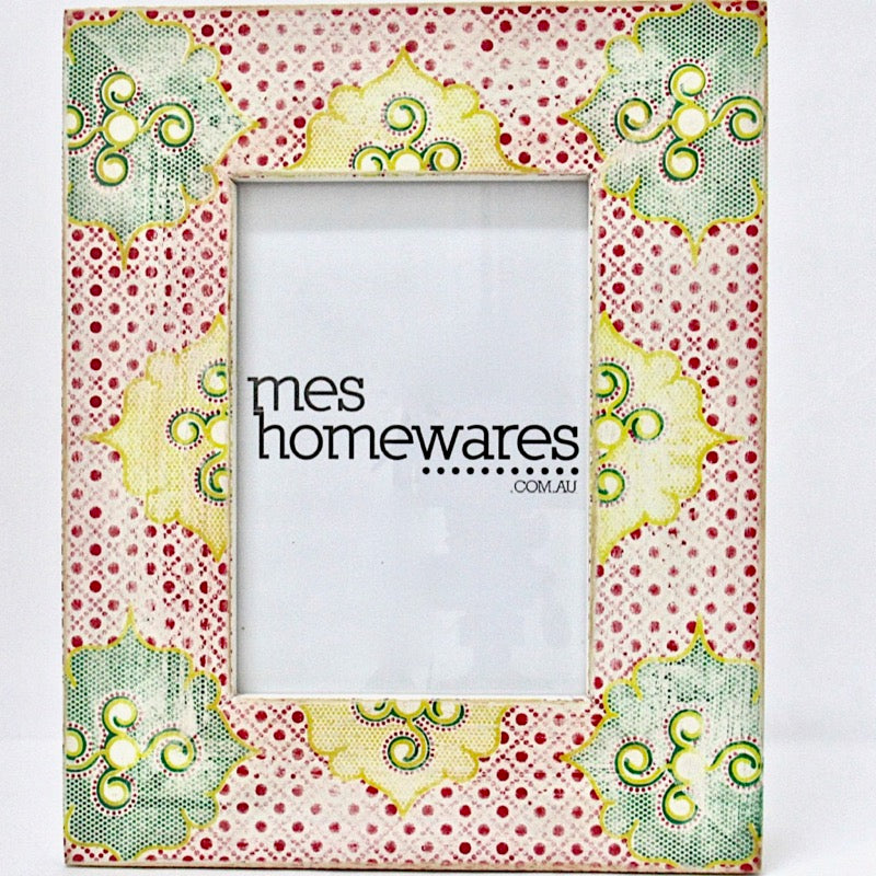 Photo Frame Flowers Wooden