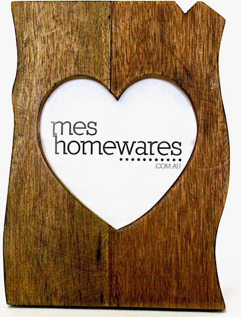 Photo Frame Heart Inside Wooden