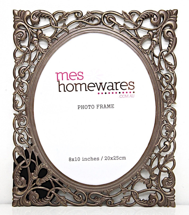 Photo Frame Victoria Filigree Antique Brown