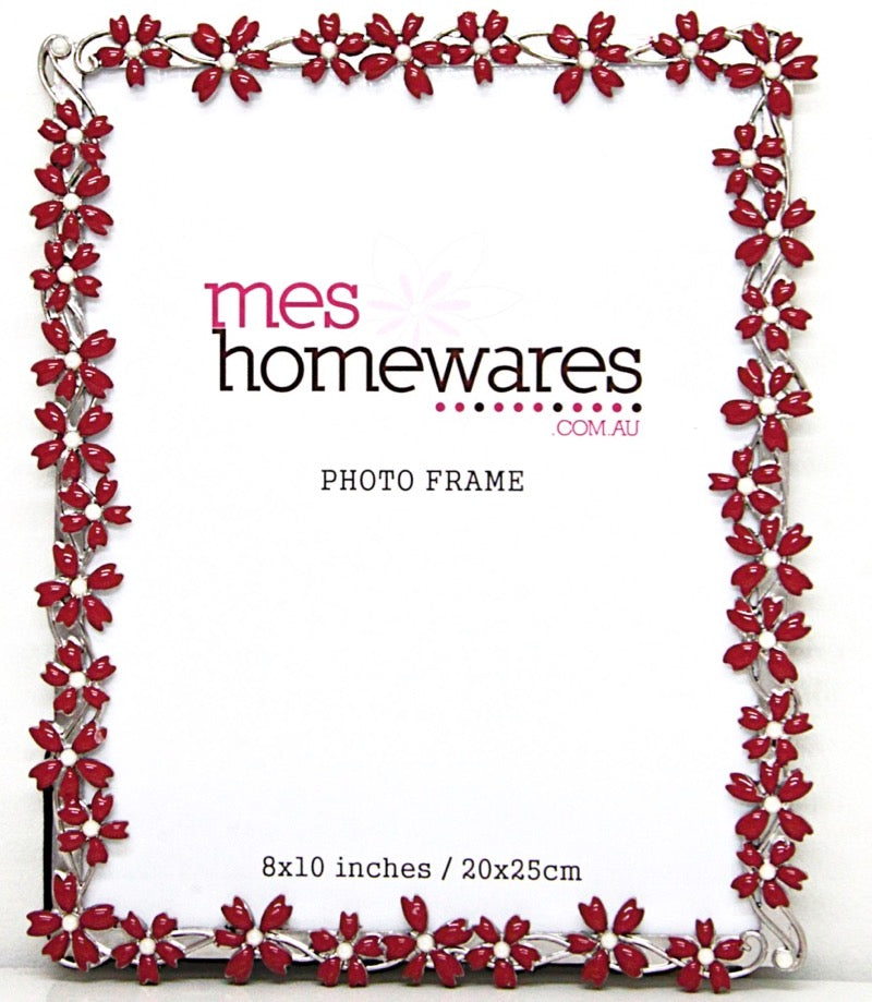 Photo Frame Few Flowers Red