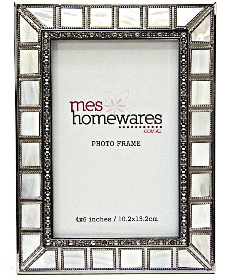 Photo Frame Bevelled Mother of Pearl 3×3
