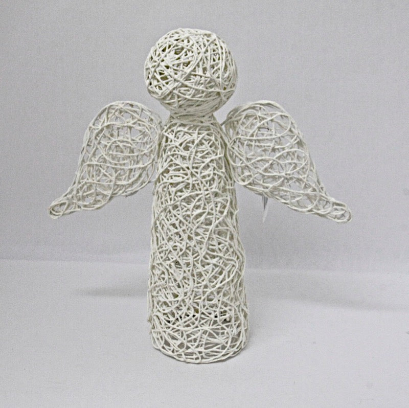 Christmas Decoration Angel Standing Small White