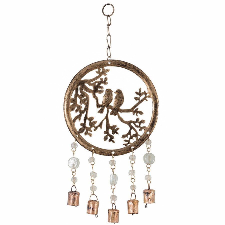 Handcrafted Circle of Life Chime with Birds, Beads and Bells