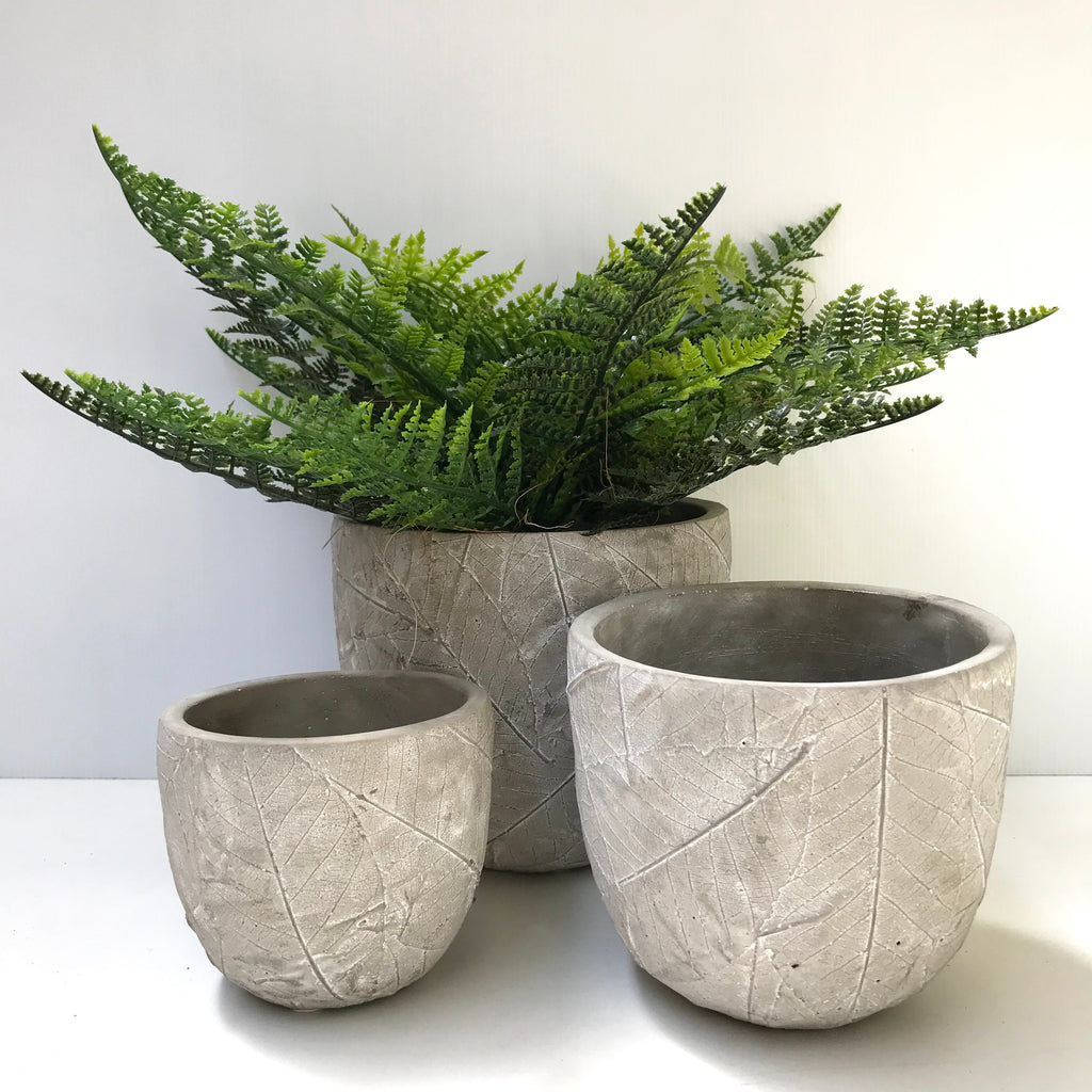 Round Pots - Leaf Design