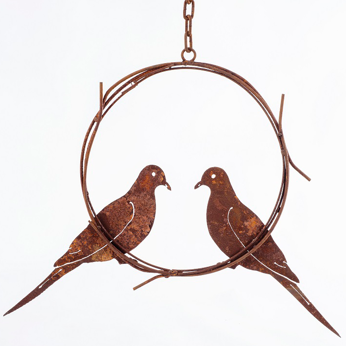 Doves in Wreath ring