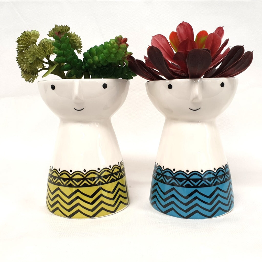 Zigzag Face Planter Yellow