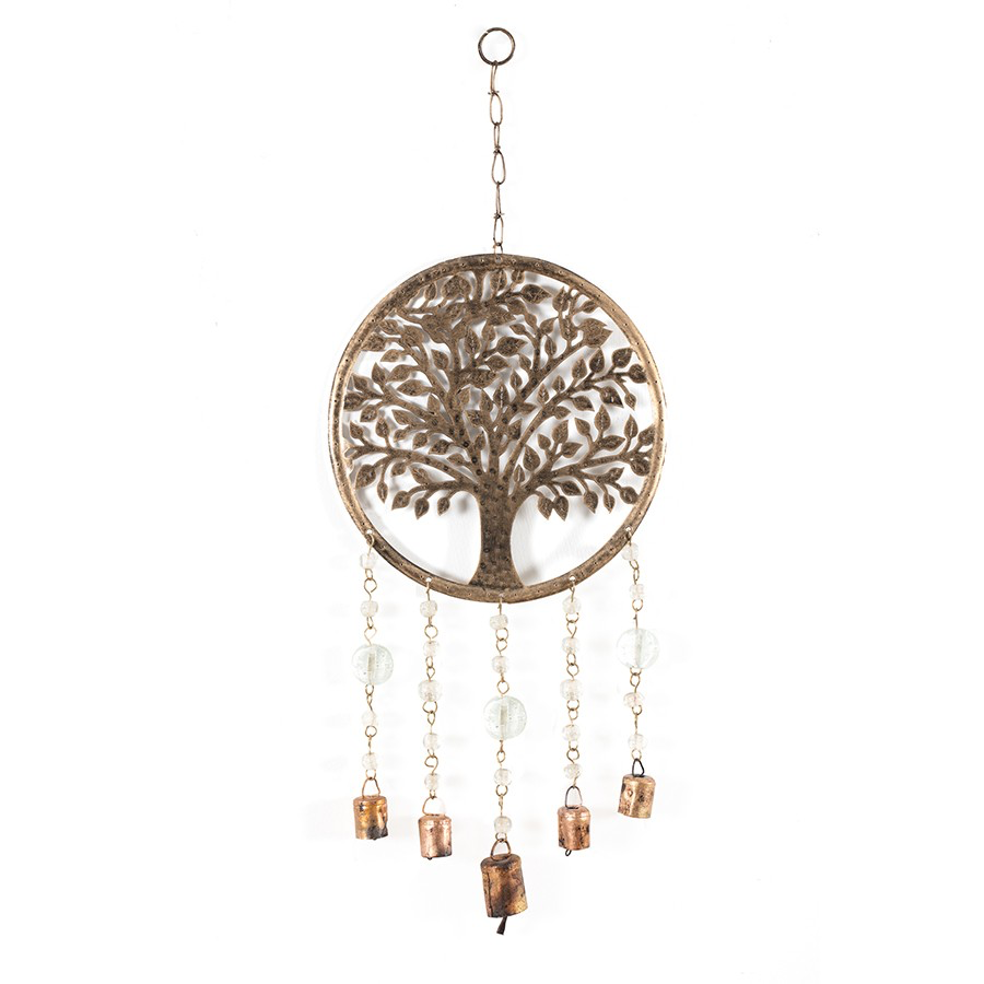 Handcrafted Tree of Life with Beads & Bells