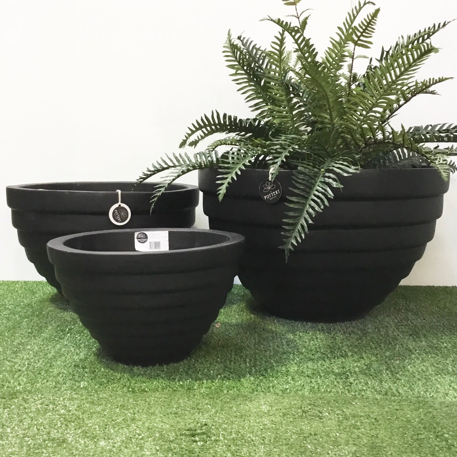 Low Ring Bowl Black