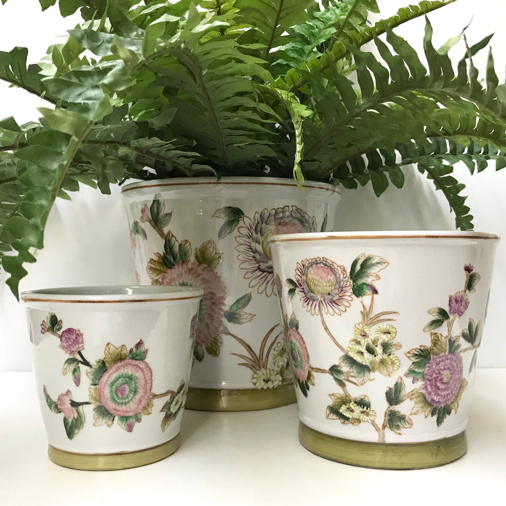 Spring Flowers Round Pots