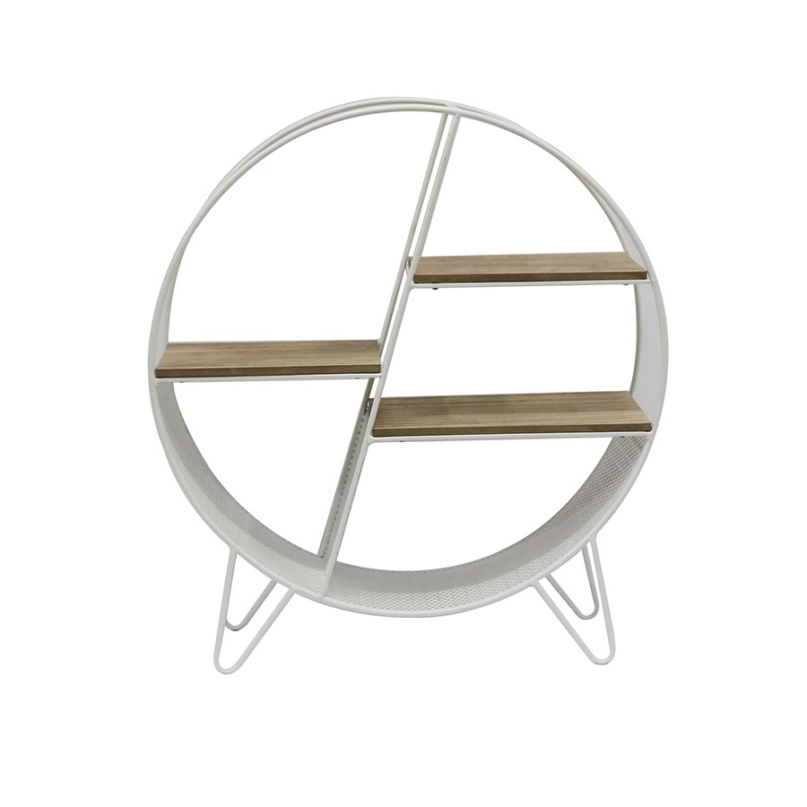 Round Contemporary Shelf White