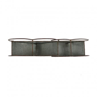 Galvanised 2-Hearts Wall Hanging Planter