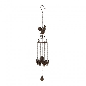Cast-Iron Bell with Hanging Chickens