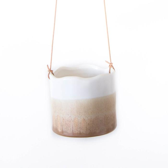 Ombre Sand Medium Hanging Pot