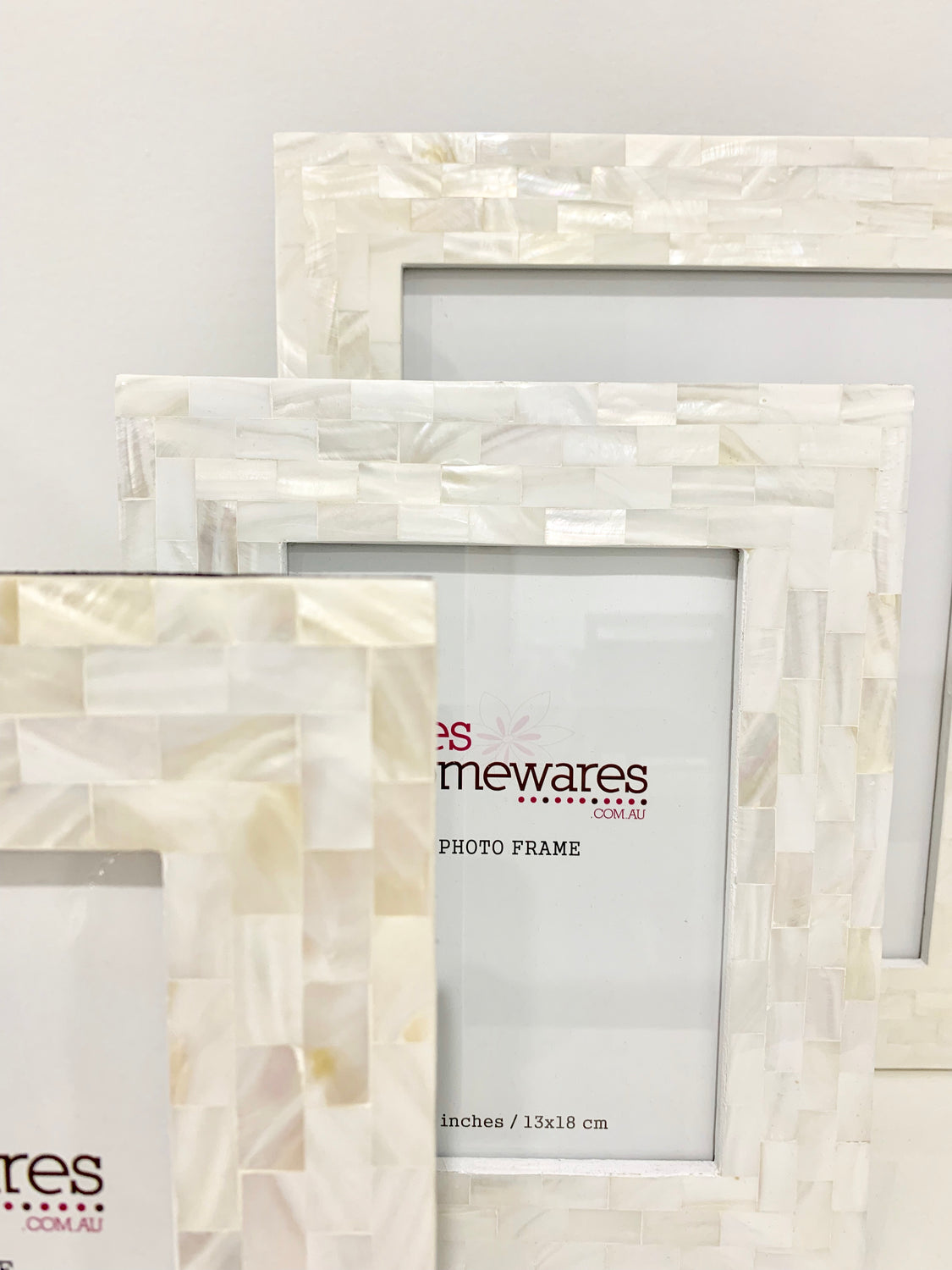 Photo Frame Mother of Pearl Thick Border