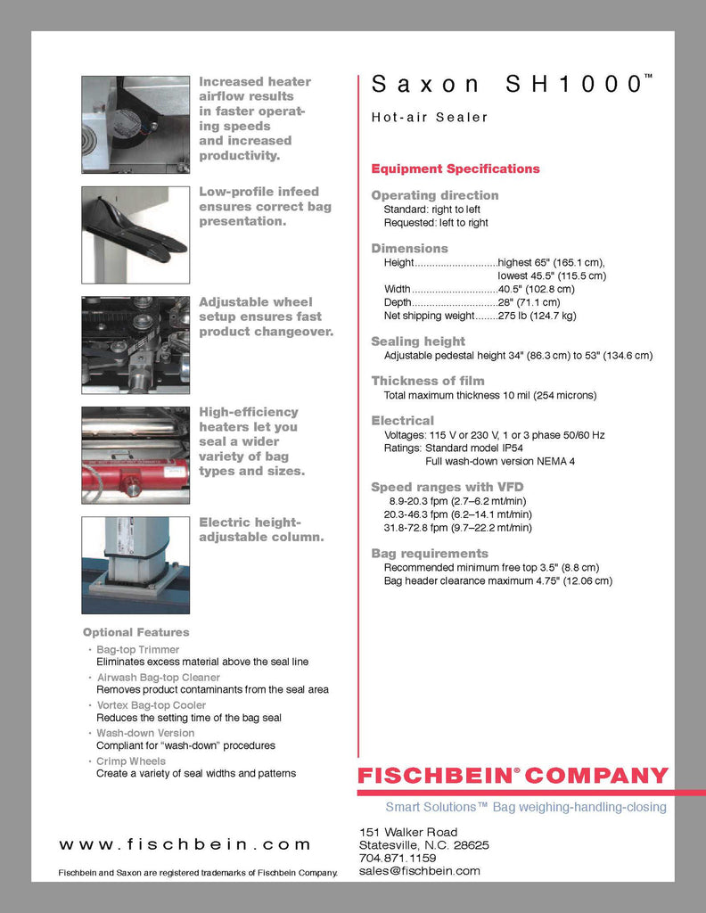 Fischbein-Saxon SH-1000 - Packaging Machines - Allpack - Packaging - Technologies
